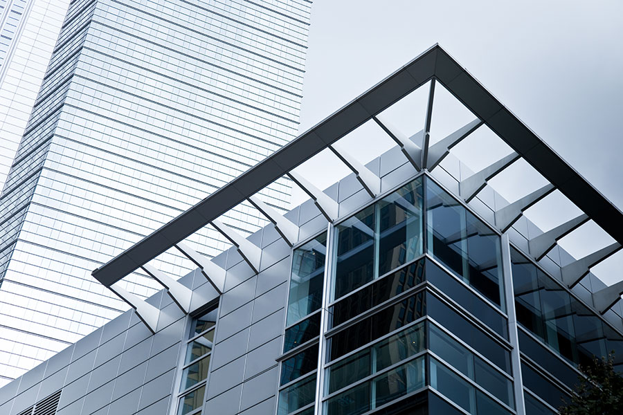Business Insurance - Abstract White Building with an Angled Roof