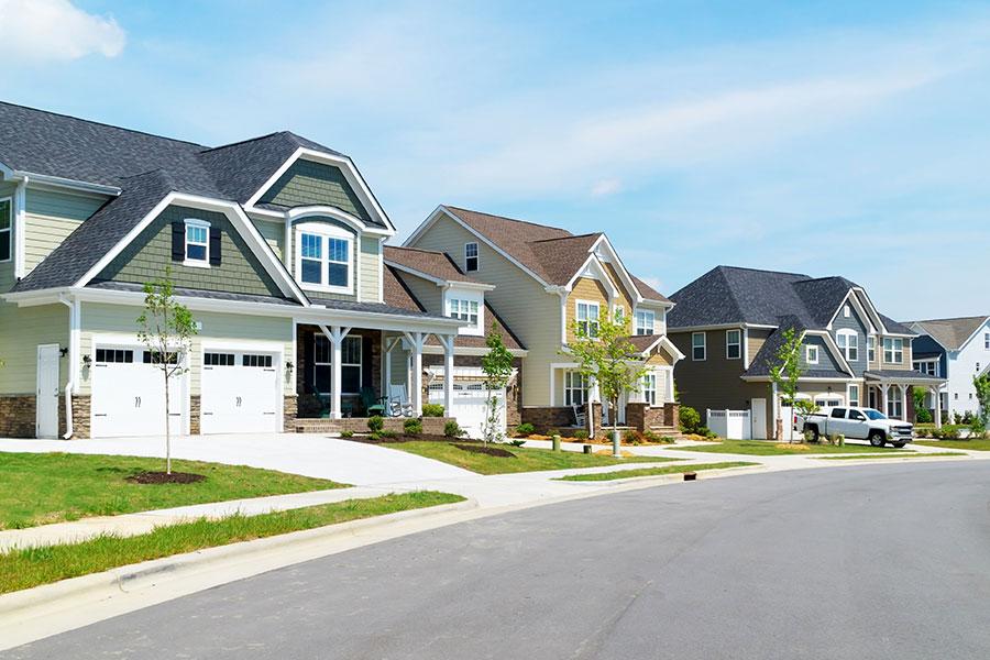 Community Association Insurance - Neighborhood of Large Homes